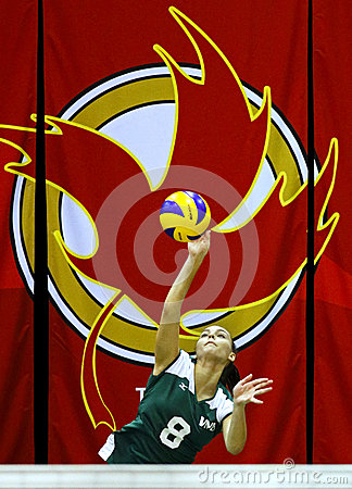Canada games volleyball serve woman Editorial Stock Photo