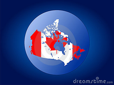 Canada globe illustration