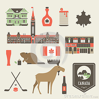Free Canada Icons Royalty Free Stock Image - 30325306