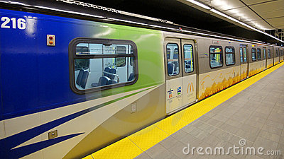 Canada Line Vancouver Transit Editorial Image