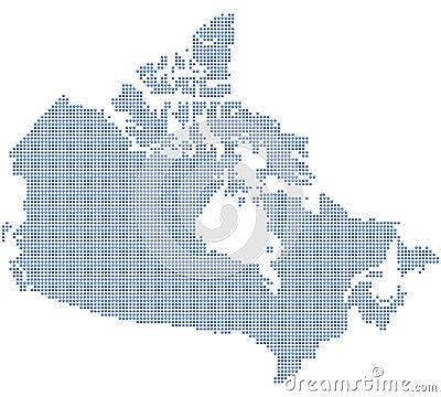 Canada map dots