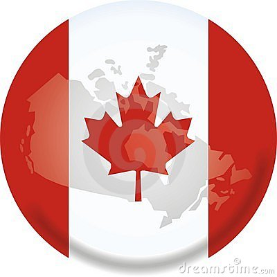 Canada map and flag
