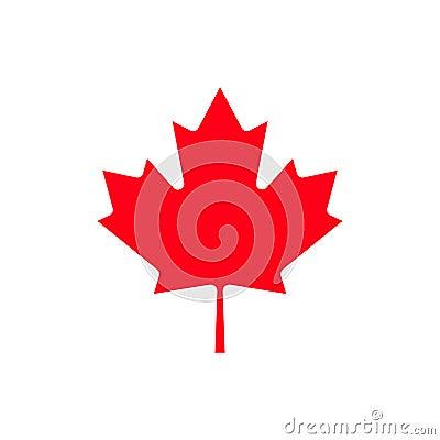 Canada maple leaf icon. Vector Illustration