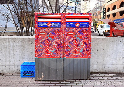 Canada Post Mailbox Editorial Stock Photo