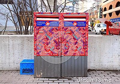 Canada Post Mailbox Editorial Stock Photo