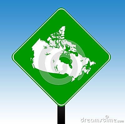Canada road sign