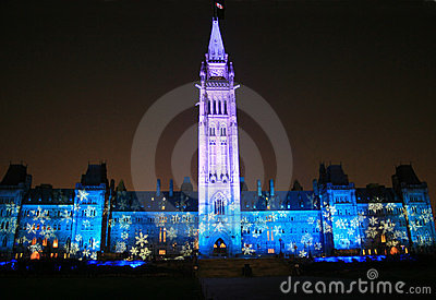 Canada s Floodlit Parliament.