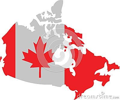 Canada Shape Flag Royalty Free Stock Photos - Image: 6527168
