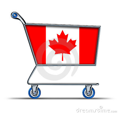Canada trade market surplus deficit shopping cart