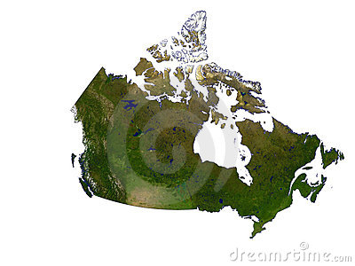 Canada On White Background