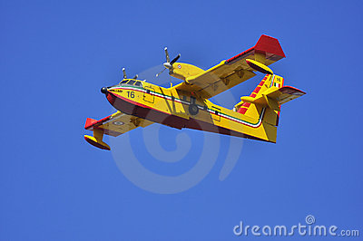 Canadair in flight.