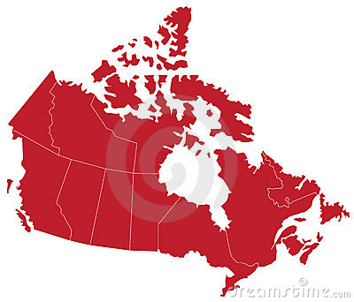 Canada Map (separable by province)