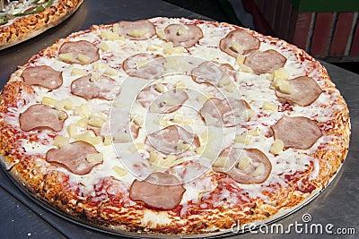 Canadian Bacon and Pineapple Hawaiian Style Pizza