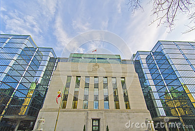 Canadian Bank of Canada, Ottawa Canada Editorial Stock Image