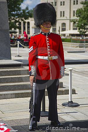 Canadian Ceremonial Guard in Full Dress Editorial Image