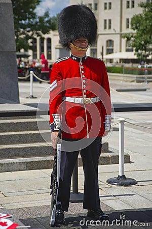 Canadian Ceremonial Guard in Full Dress Editorial Image
