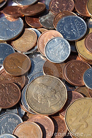 Free Canadian Coins Stock Image - 6116771