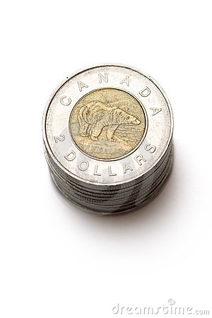 Canadian coins Editorial Stock Image