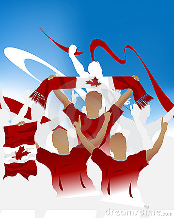 Free Canadian Crowd Royalty Free Stock Photography - 6616747