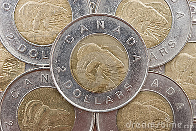 Canadian currency Editorial Photography