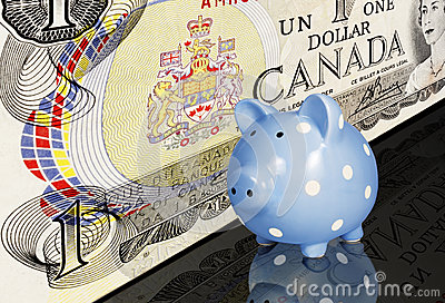 Canadian Dollar Piggy Bank