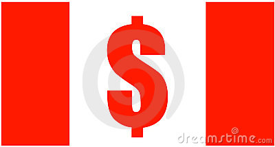 Canadian Dollar Sign Flag