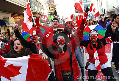 Canadian family Editorial Stock Image