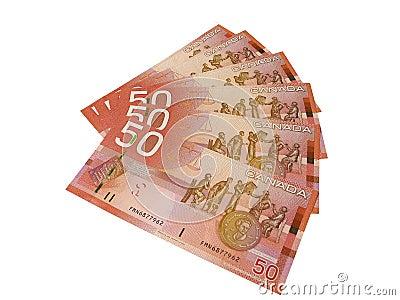 Canadian Fifty Dollar Bills
