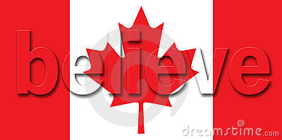 Canadian Flag believe