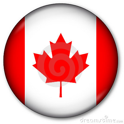 Free Canadian Flag Button Royalty Free Stock Photos - 7315038