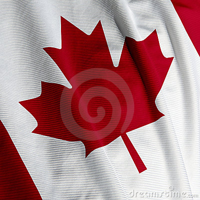 Canadian Flag Closeup