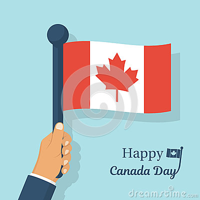 Free Canadian Flag Holding In Hands Royalty Free Stock Image - 92165316