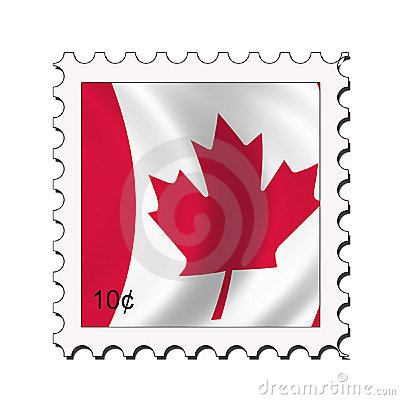 Canadian flag stamp