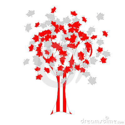 Canadian flag tree