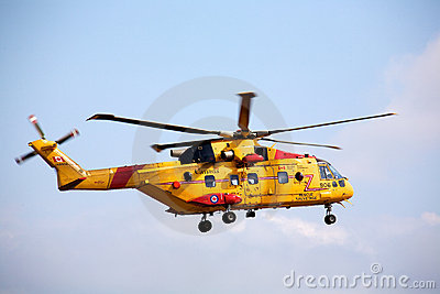 Canadian Forces rescue helicopter Editorial Stock Image