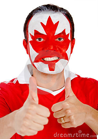 Canadian man with thumbs up