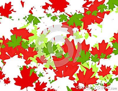 Canadian Maple Leaf Christmas Background