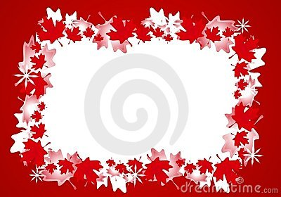 Canadian Maple Leaf Christmas Border Frame