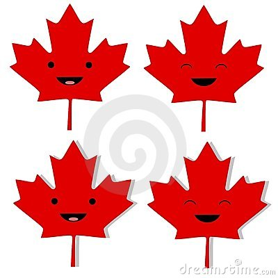 Canadian Maple Leaf Smilies
