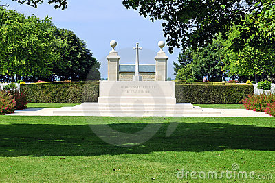 Canadian memorial and cemetery in Normandy