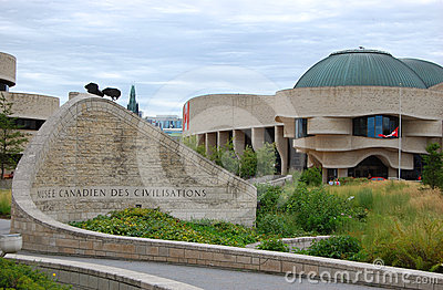 Canadian Museum of Civilization, Gatineau, Quebec Editorial Image