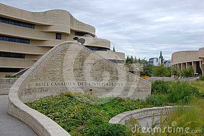 Canadian Museum of Civilization, Gatineau, Quebec Editorial Stock Photo