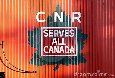 Canadian National Railway Logo Editorial Photo