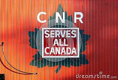 Canadian National Railway Logo Editorial Photo