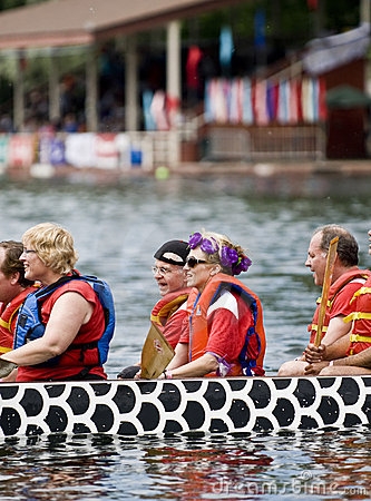 Canadian National Womens Premier Dragon Boat Editorial Stock Image
