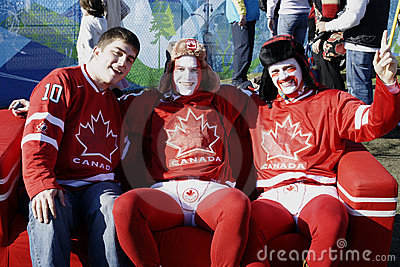 Canadian Olympic Hockey Fans Editorial Image