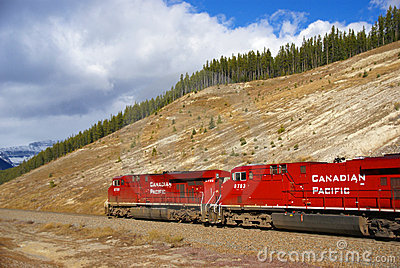 Canadian Pacific freight train Editorial Stock Image
