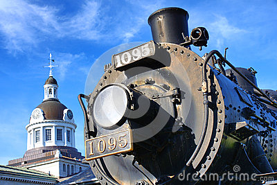 Canadian Pacific Railways historic locomotive in Kingston Ontari