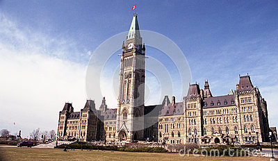 Canadian parliament Editorial Stock Image