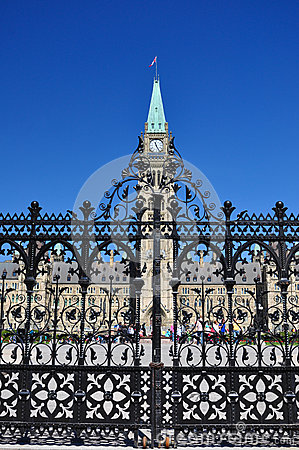 Canadian Parliament Building in Ottawa